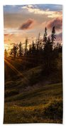 Last Light At Cedar Beach Towel by Chad Dutson