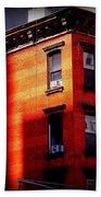 Last Rays Of The Sun - Old Buildings Of New York Beach Towel