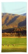 Late Autumn Afternoon In Cades Cove Beach Towel
