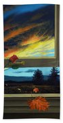 Late Autumn Breeze By Christopher Shellhammer Beach Towel