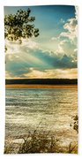 Late Summer Afternoon On The Mississippi Beach Towel