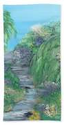 Late Summer On The White River Beach Towel