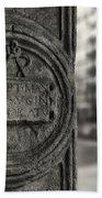 Latin Inscription Beach Towel