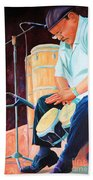 Latin Jazz Musician Beach Towel
