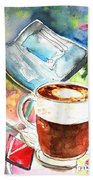 Latte Macchiato In Italy 01 Beach Towel by Miki De Goodaboom