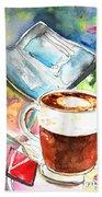 Latte Macchiato In Italy 01 Beach Sheet