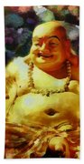 Laughing Buddha  Beach Towel