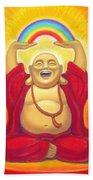 Laughing Rainbow Buddha Beach Towel