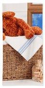 Laundry With Teddy Beach Sheet