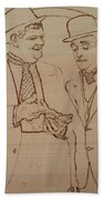 Laurel And Hardy - Thicker Than Water Beach Towel