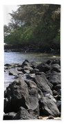 Lava Rocks Beach Towel