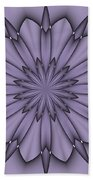 Lavender Abstract Flower Beach Towel