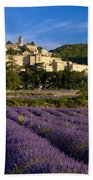 Lavender And Banon Beach Towel