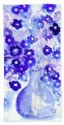 Lavender And Blue Impressions Of Spring Beach Towel