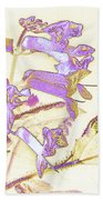 Lavender And Gold Beach Towel