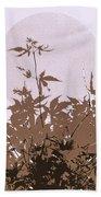 Lavender And Taupe Haiku Beach Towel