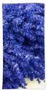 Lavender Bunch Flowers Beach Towel