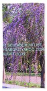 Lavender Butterfly Bush Beach Towel