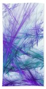 Lavender Crosshatch Beach Towel