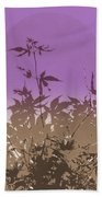 Purple Haiku Beach Towel