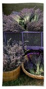 Lavender Harvest Beach Towel