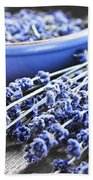 Lavender Herb And Essential Oil Beach Towel