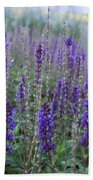 Lavender In The City Park Beach Towel