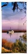 Lavender Light Reflections Beach Towel