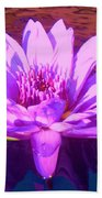 Lavender Lily Beach Towel