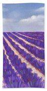 Lavender Season Beach Sheet