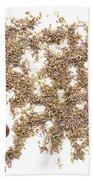 Lavender Seeds Beach Towel