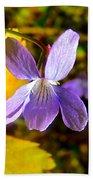 Lavender Violet Along John's Lake Trail In Glacier Np-mt Beach Towel