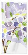 Lavender With Missouri Dogwood In The Window Beach Towel