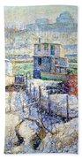 Lawson's Boathouse -- Winter -- Harlem River Beach Towel