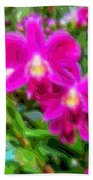 Layer Cut Out Art Flower Orchid Beach Towel