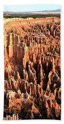 Layered Hoodoos At Bryce Canyon National Park Beach Towel