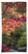 Layers Of Autumn Red Beach Towel