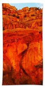 Layers Of Orange Rock Beach Towel