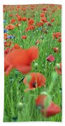 Laying In The Poppy Field Beach Towel