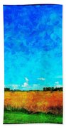 Lazy Clouds In The Summer Sun Beach Towel