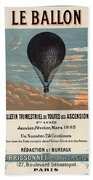 Le Ballon Advertising For French Aeronautical Journal Beach Towel