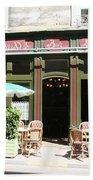 Le Charleston Bar In Tournus Beach Towel