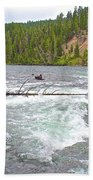 Le Hardy Rapids In Yellowstone River In Yellowstone National Park-wyoming   Beach Towel
