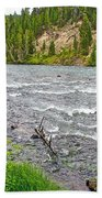 Le Hardy Rapids Of Yellowstone River In Yellowstone River In Yellowstone National Park-wyoming   Beach Towel