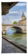 Le Pont Napoleon Paris Beach Towel