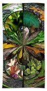 Leaf Collage Orb Beach Towel