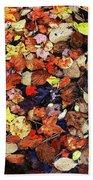 Leaf Patterns 3 Beach Towel