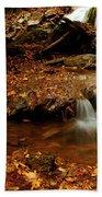 Leaf Splatter Beach Towel