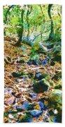 Leaf Stream Beach Towel