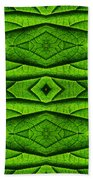 Leaf Structure Abstract Beach Towel